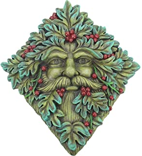 Things2Die4 Cast Iron Oak King Outdoor Wall Hanging Green Man