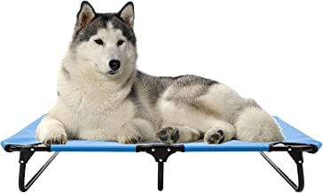 walnest Elevated Pet Bed Dog Cat Play and Rest Raised Cot Lifted Hammock Trampoline Platform for Cooling for Dogs and Cats Foldable Steel Frame