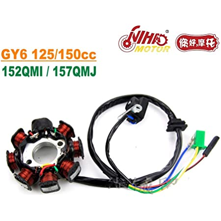 WOOSTAR 2 Wire Ignition Coil Replacement for GY6 TaoTao Chinese 110cc 125cc 150cc 180cc Motor Scooter Moped Go Kart
