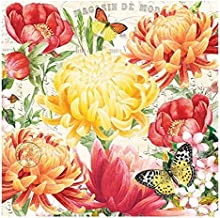 20-Count 3-Ply Paper Luncheon Napkins, Morning Blossoms