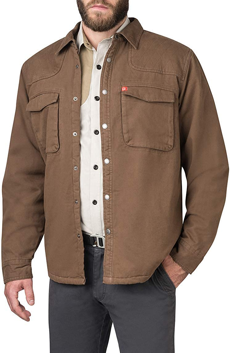 The American Outdoorsman Sherpa Lined Twill Shirt Jackets for Men