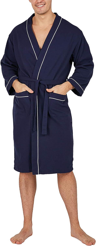 Regular dealer YIMANIE Men's Robe Fees free Cotton Bathrobe Soft Knee Sleepwear Length