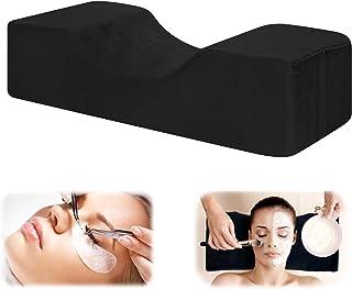 NCONCO Almohada de espuma viscoelástica para extensión de pestañas, almohada ergonómica en forma de U curva, almohada de m...