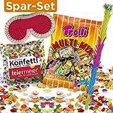 PINATA-ZUBEHÖR-SET: Pinata-Schläger + Maske + XL-Süßigkeiten-Füllung + Konfetti