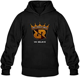 XIULUAN Men's Rex Regum QEON Team Logo RRQ Hooded Sweatshirt XXL Black
