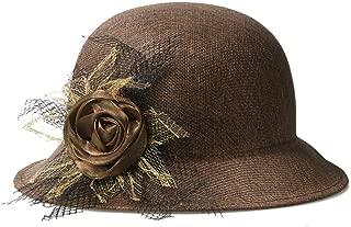 ZiWen Lu Hat Ladies Summer New Linen Fashion Shade Outdoor Sunscreen Bonnet Straw hat top hat (Color : Brown)