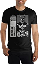 MHA My Hero Academia All Might Symbol Of Peace Men's Black T-Shirt Tee Shirt
