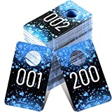Jetec Etiquetas de Números de Plástico Etiqueta de Número Consecutivo en...