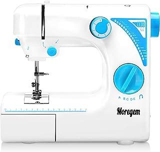 Moregem 電動ミシン 家庭用ミシン 19種類の縫い模様 返し縫い ダブルスレッド 機能充実 操作簡単 手作り DIY 縫製 持ち運び便利 フリーアーム仕様 コンパクト「2020最新版」