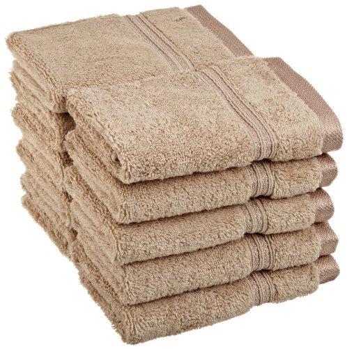 Collection 100% Coton peigné à Fibres Longues Serviette de Visage Lot DE 10 pièces de qualité supérieure, Taupe par supérieure