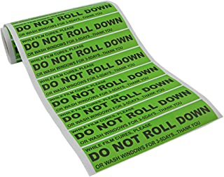 FOSHIO 100pcs/roll DO NOT ROLL DOWN Automotive Self-Adhesive Stickers Warning Label for Auto Vinyl Wraps Tool