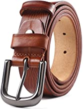 Dress Belt with Rotated Buckle Casual Vintage Leather Belt for Men Casual Belt (Color : Brownish red, Size : 110cm)