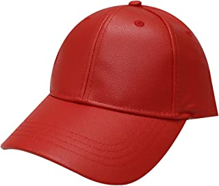 City Hunter Lc100 Plain Leather Cap (10 Colors)