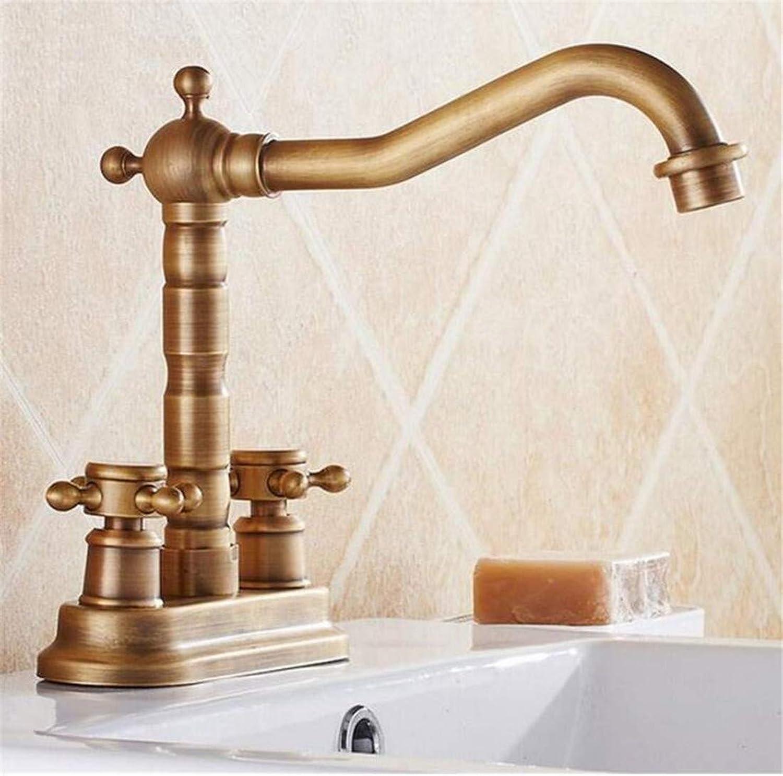 Faucet Luxury Plated Modern Faucet Faucet Washbasin Mixer Deck Mounted Vintage Antique Brass Bathroom Sink Basin Faucet Mixer Tap