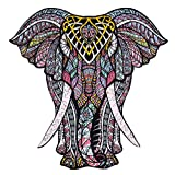 Wooden Jigsaw Puzzles – Decorative Elephant Hartmaze HM-06 Small Size Puzzle 171 Unique Shape Jigsaw Pieces-Beautiful Animal for Adults and 12 Years Age up Kids- Best for Family Game Play Collection.