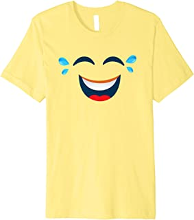 Emoji Halloween Costume Laughing Tears of Joy Emoji Yellow Premium T-Shirt
