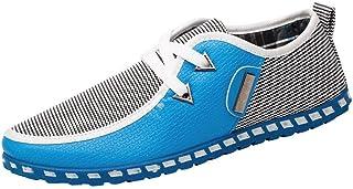 Men's Casual Shoes Breathable Flat Trainers Shoes (Color : Sky Blue, Size : 7.5 UK)