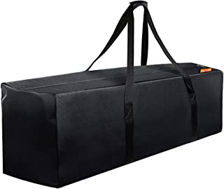 47 Inch Zipper Travel Duffel Gym Sports Luggage Bag, Water Resistant Oversize, Black