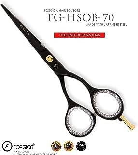 Professional Hair Cutting Scissors Slim 5.5 inch Titanium Black Barber Stylist Salon Shears Hairdressing