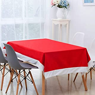 Table Cover - Rectangle Red Santa Christmas Tablecloth Wedding Banquet Table Cover Decor - Kitchen Around Glitter Unique Waterproof Mahjong Black Covers Your Incredibles Oblong Tissue Crafts Kksh
