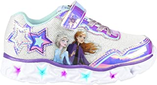 CERDÁ LIFE'S LITTLE MOMENTS Cerdá-Zapatillas Led Frozen de Color Plateado, Niñas