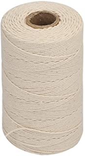 Vivifying 656 Feet 3Ply Cotton Bakers Twine, Food Safe Cooking String for Tying Meat, Making Sausage (White)