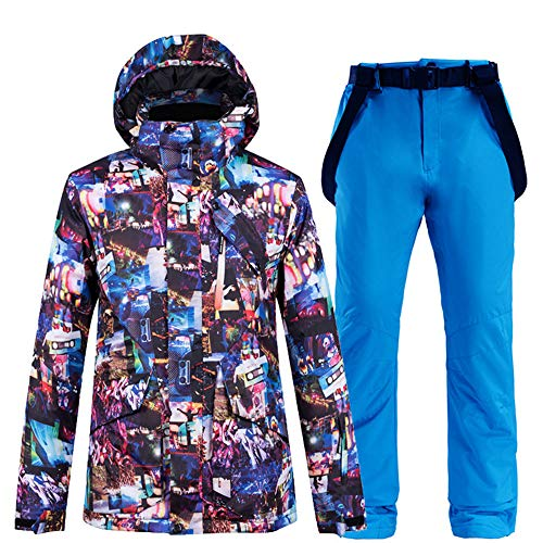Snowboard pak heren pak winter outdoor winddicht waterdicht warmte verdikt ski ondergoed skipak,Top + pants 6l