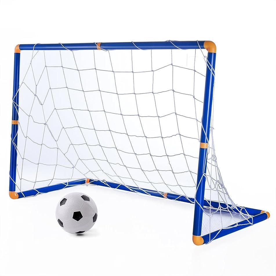 通信網グッゲンハイム美術館パキスタン人KUUQA ミニ サッカーゴール サッカーボール 子供 サッカー 練習 室内 屋外用 ミニゴール 組み立て 簡易ゴール 空気入れ ネット付き
