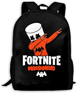 GREATIBAG Fortni Marshmello Graphic School Backpack Durable Lightweight Large Space Waterproof Daypacks Student Adult
