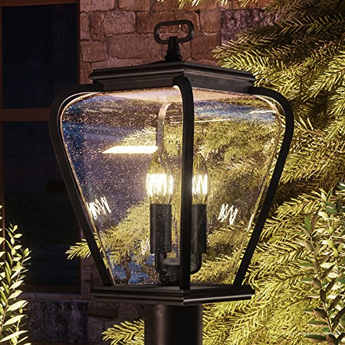 Luxury French Country Outdoor Post Light, Medium Size: 18