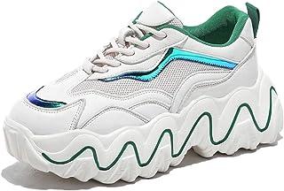 Dames Dikke sneakers Ademende mesh veterschoen Platformschoenen Comfortabele ronde neus Dikke onderkant Casual sneakers