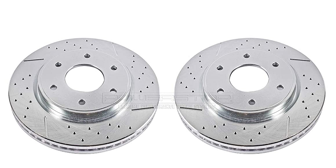 Power Stop JBR1161XPR Front Evolution Drilled & Slotted Rotor Pair