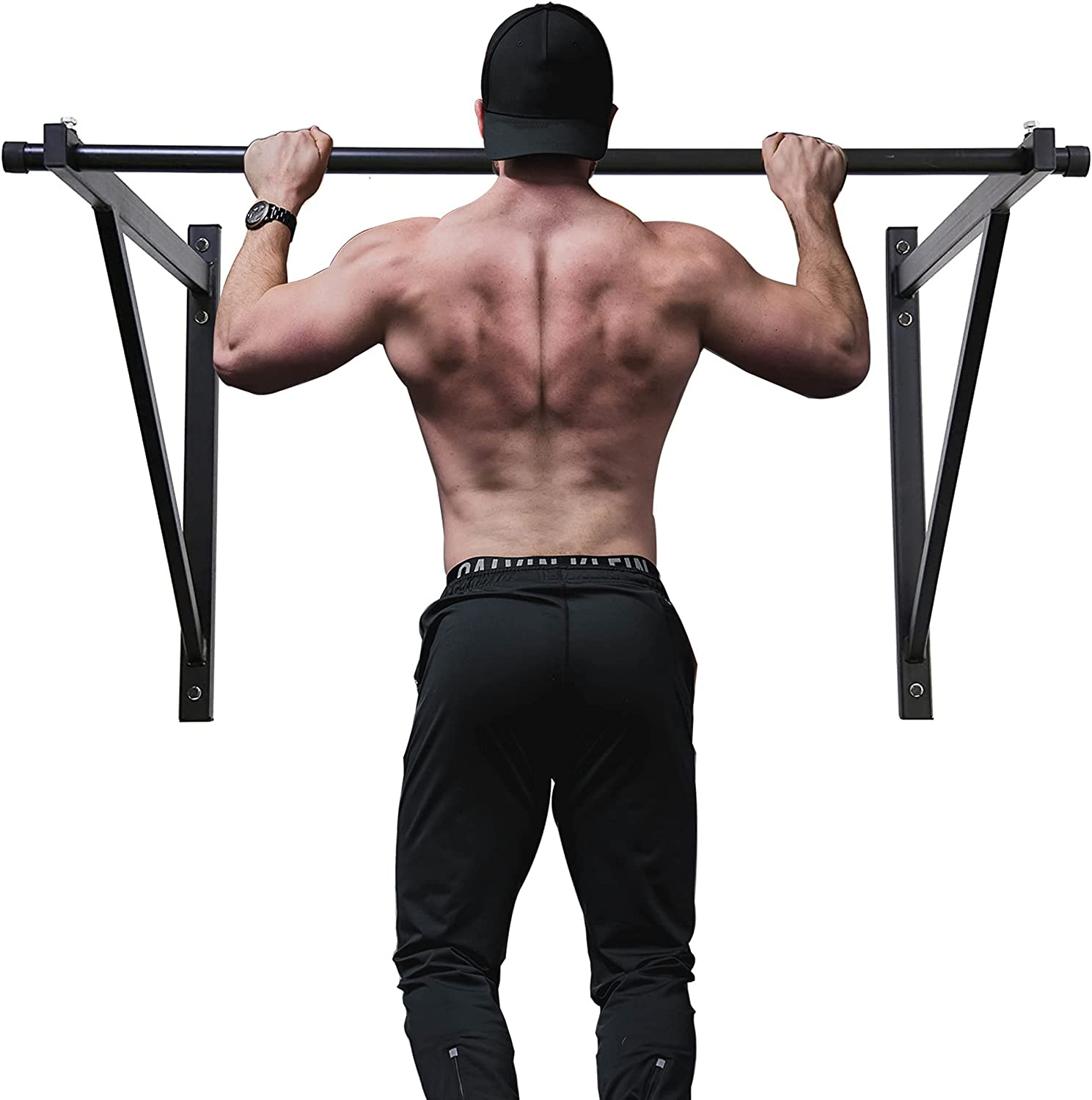 Deluxe ECOTRIC 50'' Pull Up Bar Doorway Exercise Upper Chin Don't miss the campaign up