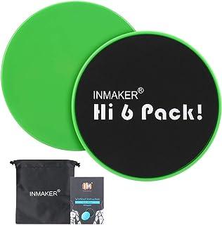 Inmaker - Deslizadores de Ejercicio, Doble Cara, Discos deslizantes con Bolsa de Transporte, Manual y Libro electrónico
