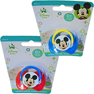 Minnie Mouse & Mickey Mouse, 0+ Months, Deluxe Pacifiers (Mickey Mouse, Boy Colors, 2 Pacifiers))