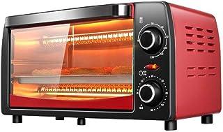 Horno eléctrico de convección, microondas Retro Mini Digital con esmaltado de horno, temperatura ajustable Electrodomésticos de control y el temporizador de cocina, acero inoxidable, 1050W 12L,Rojo
