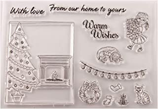 KUKALE Christmas Tree Silicone Clear Seal Stamps for Card Making Decoration and Scrapbooking