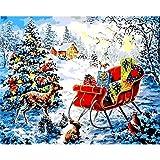 Aaubsk Puzzle 1000 Piezas Cartel navideño de Pintura Serie 16 Regalos artísticos Puzzle 1000 Piezas educa Rompecabezas de Juguete de descompresión Intelectual Colorido Juego de ubic50x75cm(20x30inch)