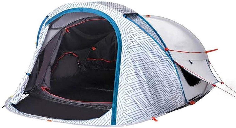 Zelt Outdoor One-Touch Camping Camping Faltzelt Doppel Regendicht Sonnenschutz Groe Raum Wei Druck Wei
