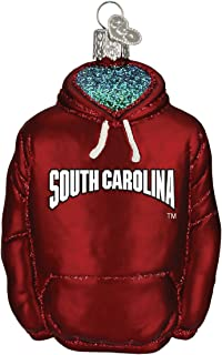 Old World Christmas University of South Carolina Hoodie Glass Blown Ornament