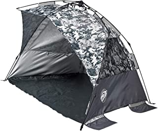 E-Z UP WT8CG Wedge Portable Beach Tent 4 Person UV with Carry Bag, Camo Gray