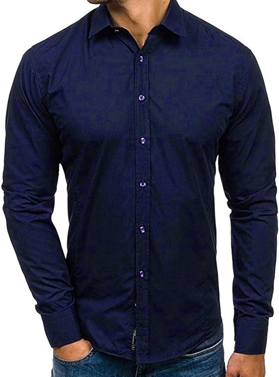 Aiserkly - Blusa de Manga Larga para Hombre, de algodón ...
