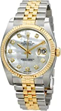 Rolex Oyster Perpetual Datejust 36 Mother of Pearl Dial Stainless Steel and 18K Yellow Gold Rolex Jubilee Automatic Mens Watch 116233MDJ