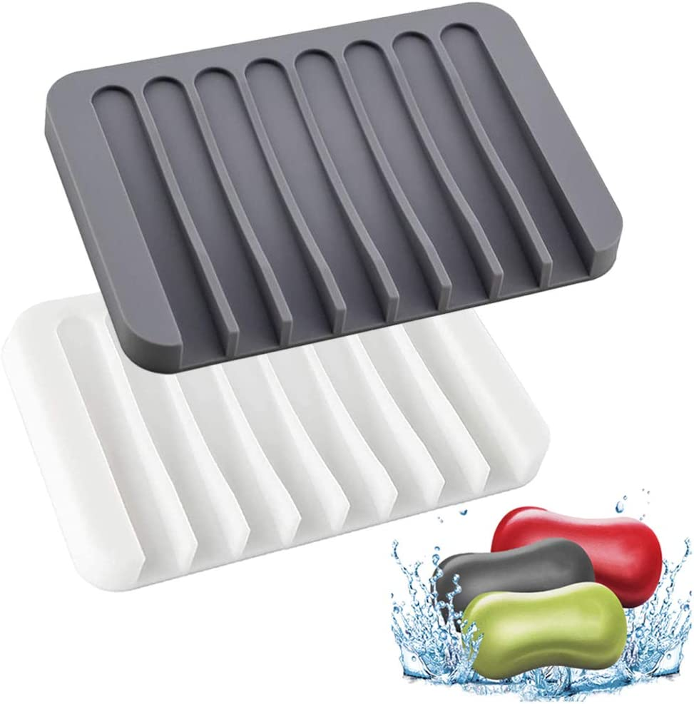 YQBOOM Soap Dish with Max 41% OFF 2021 new Drain Bar Soaps Silicone Trays Holder