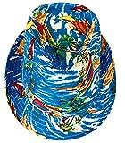 CLUB CUBANA Sombreros De Fedora Hawaiana para Hombres Mujeres Sombrero Unisex De Fieltro Estilo Panamá Sombreros para El Sol, La Playa, El Verano, Jazz, Luau, Vestuarios De Fiesta Azul