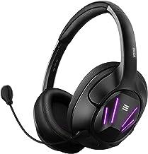 EKSA Computer Gaming Headset - 7.1 Surround Sound Computer Headphones with Protein Earmuffs - Detachable Mic - Over Ear Ga...