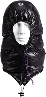Winter Down Cap Ultra-Light Windproof Waterproof Sleeping Bag Trooper Hunting Trapper Hat Cap Unisex with Compression Stuff Sack Storage Bag 0.2lb