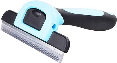 Deshedding Tool Pet Brush - Premium Quality, Medium Size, Blue, Dog Grooming Tool to Reduce Allergies