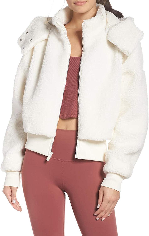 Aliling Seasonal Wrap OFFicial site Introduction Women's Fashion Zipper Leopard Coat Jacket Fleece Pocket
