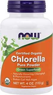 NOW Supplements, Organic Chlorella Powder with naturally occurring Chlorophyll, Beta-Carotene, mixed Carotenoids, Vitamin ...